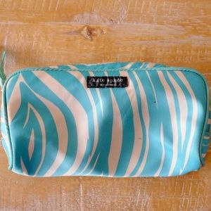 KATE SPADE Blue and White Cosmetic Bag